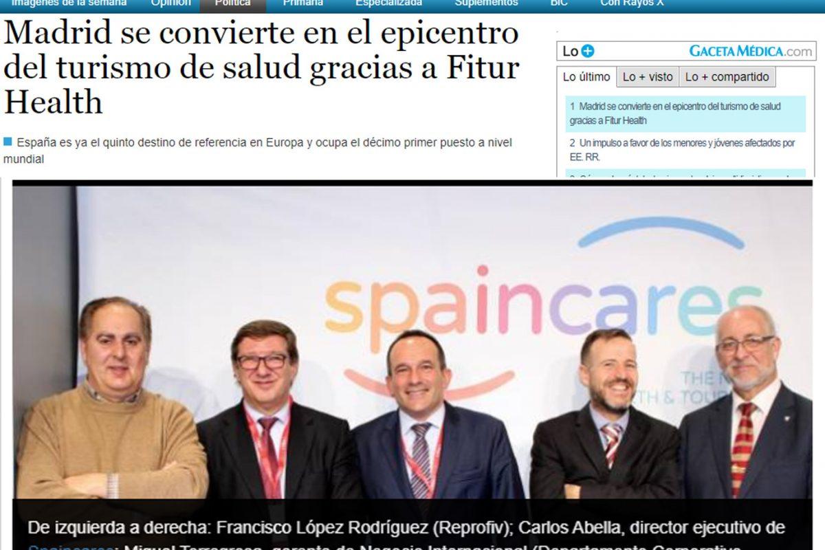 """GACETA MÉDICA """"Madrid se convierte en el epicentro del turismo de salud gracias a Fitur Health"""""""